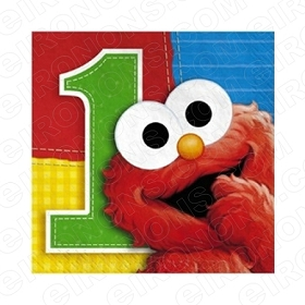 SESAME STREET ELMO 1ST BIRTHDAY T-SHIRT IRON-ON TRANSFER DECAL #FBSS1