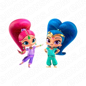 SHIMMER AND SHINE CHARACTER T-SHIRT IRON-ON TRANSFER DECAL #CSAS1