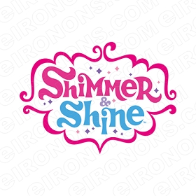 SHIMMER AND SHINE LOGO CHARACTER T-SHIRT IRON-ON TRANSFER DECAL #CSAS7