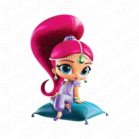 SHIMMER AND SHINE SHIMMER SITTING CHARACTER T-SHIRT IRON-ON TRANSFER DECAL #CSAS8