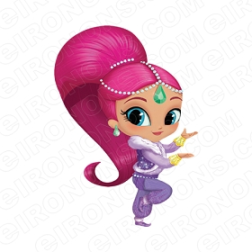 SHIMMER AND SHINE STANDING CHARACTER T-SHIRT IRON-ON TRANSFER DECAL #CSAS9