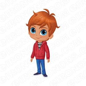 SHIMMER AND SHINE ZAC CHARACTER T-SHIRT IRON-ON TRANSFER DECAL #CSAS11