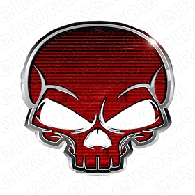 SKULL METAL T-SHIRT IRON-ON TRANSFER DECAL #S14