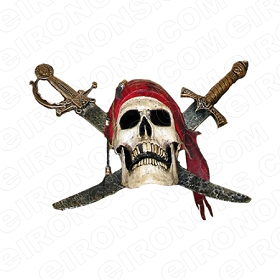 SKULL POTC T-SHIRT IRON-ON TRANSFER DECAL #S17