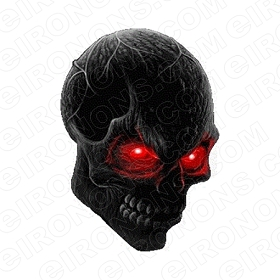 SKULL RED EYES T-SHIRT IRON-ON TRANSFER DECAL #S19