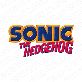 SONIC THE HEDGEHOG LOGO VIDEO GAME T-SHIRT IRON-ON TRANSFER DECAL #VSTHH2