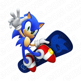SONIC THE HEDGEHOG SNOWBOARDING VIDEO GAME T-SHIRT IRON-ON TRANSFER DECAL #VSTHH7