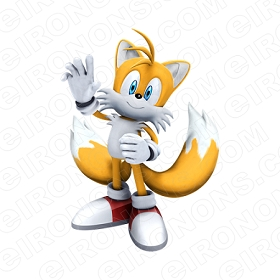 SONIC THE HEDGEHOG TAILS WAVING VIDEO GAME T-SHIRT IRON-ON TRANSFER DECAL #VSTHH10