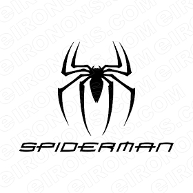SPIDER-MAN LOGO BLACK COMIC T-SHIRT IRON-ON TRANSFER DECAL #CSM1