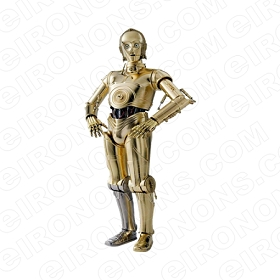 STAR WARS C-3PO MOVIE T-SHIRT IRON-ON TRANSFER DECAL #MSW3