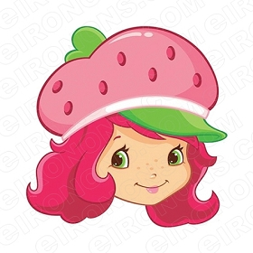 STRAWBERRY SHORTCAKE BIG HEAD CHARACTER T-SHIRT IRON-ON TRANSFER DECAL #CSBSC4