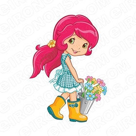 STRAWBERRY SHORTCAKE COUNTRY CHARACTER T-SHIRT IRON-ON TRANSFER DECAL #CSBSC8