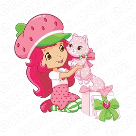 STRAWBERRY SHORTCAKE HOLDING CUSTARD CHARACTER T-SHIRT IRON-ON TRANSFER DECAL #CSBSC12