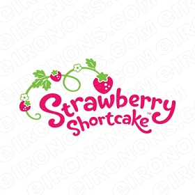 STRAWBERRY SHORTCAKE LOGO CHARACTER T-SHIRT IRON-ON TRANSFER DECAL #CSBSC17