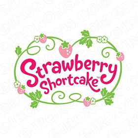 STRAWBERRY SHORTCAKE LOGO CHARACTER T-SHIRT IRON-ON TRANSFER DECAL #CSBSC18