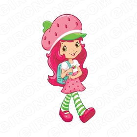 STRAWBERRY SHORTCAKE WALKING CHARACTER T-SHIRT IRON-ON TRANSFER DECAL #CSBSC23