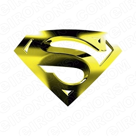 SUPERMAN LOGO GOLD COMIC T-SHIRT IRON-ON TRANSFER DECAL #CS5