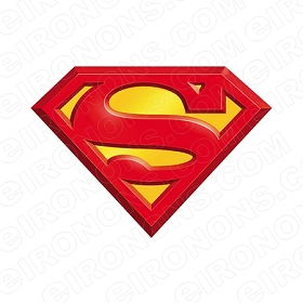 SUPERMAN LOGO RED AND YELLOW COMIC T-SHIRT IRON-ON TRANSFER DECAL #CS4