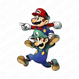 SUPER MARIO AND LUIGI VIDEO GAME T-SHIRT IRON-ON TRANSFER DECAL #VGSM6