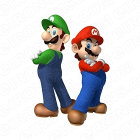 SUPER MARIO AND LUIGI VIDEO GAME T-SHIRT IRON-ON TRANSFER DECAL #VGSM2