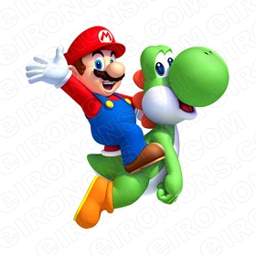 SUPER MARIO AND YOSHI VIDEO GAME T-SHIRT IRON-ON TRANSFER DECAL #VGSM4