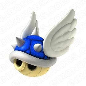 SUPER MARIO BLUE SHELL VIDEO GAME T-SHIRT IRON-ON TRANSFER DECAL #VGSM9