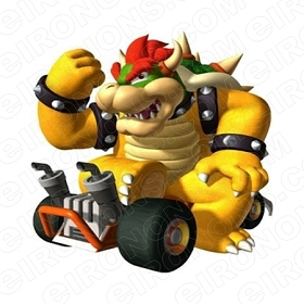 SUPER MARIO BOWSER FIST UP VIDEO GAME T-SHIRT IRON-ON TRANSFER DECAL #VGSM11