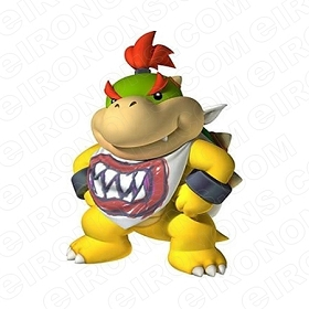 SUPER MARIO BOWSER JR IN BIB VIDEO GAME T-SHIRT IRON-ON TRANSFER DECAL #VGSM14