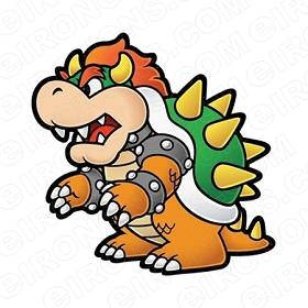 SUPER MARIO BOWSER SIDE VIEW VIDEO GAME T-SHIRT IRON-ON TRANSFER DECAL #VGSM17
