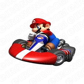 SUPER MARIO CART VIDEO GAME T-SHIRT IRON-ON TRANSFER DECAL #VGSM20