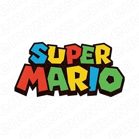 SUPER MARIO LOGO VIDEO GAME T-SHIRT IRON-ON TRANSFER DECAL #VGSM1