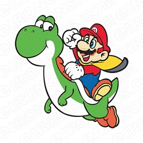 SUPER MARIO RIDING YOSHI VIDEO GAME T-SHIRT IRON-ON TRANSFER DECAL #VGSM28