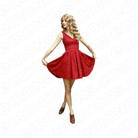 TAYLOR SWIFT HOLDING RED DRESS MUSIC T-SHIRT IRON-ON TRANSFER DECAL #MTS2