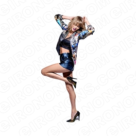 TAYLOR SWIFT POSING SEXY MUSIC T-SHIRT IRON-ON TRANSFER DECAL #MTS8