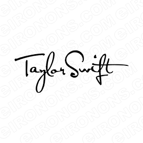 TAYLOR SWIFT SIGNATURE MUSIC T-SHIRT IRON-ON TRANSFER DECAL #MTS9