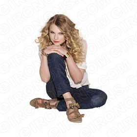 TAYLOR SWIFT SITTING KNEE UP MUSIC T-SHIRT IRON-ON TRANSFER DECAL #MTS10