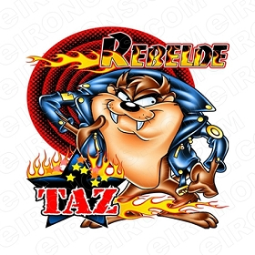 TAZ REBELDE CHARACTER T-SHIRT IRON-ON TRANSFER DECAL #CTMD3