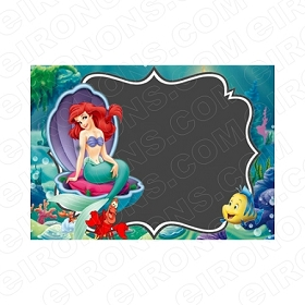 THE LITTLE MERMAID BLANK EDITABLE INVITATION INSTANT DOWNLOAD #ITLM2