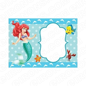 THE LITTLE MERMAID BLANK EDITABLE INVITATION INSTANT DOWNLOAD #ITLM4