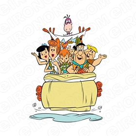 Flintstones # 15-8 x 10 Tee Shirt Iron On Transfer Christmas
