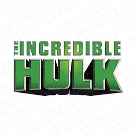 THE INCREDIBLE HULK LOGO COMIC T-SHIRT IRON-ON TRANSFER DECAL #CTIH2