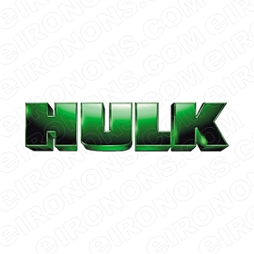 THE INCREDIBLE HULK LOGO COMIC T-SHIRT IRON-ON TRANSFER DECAL #CTIH3