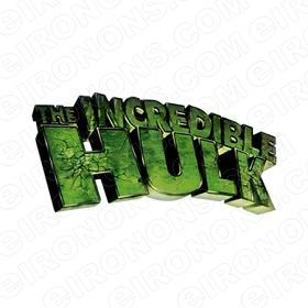 THE INCREDIBLE HULK LOGO COMIC T-SHIRT IRON-ON TRANSFER DECAL #CTIH4