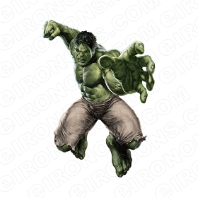THE INCREDIBLE HULK REACHING OUT COMIC T-SHIRT IRON-ON TRANSFER DECAL #CTIH5