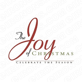 THE JOY OF CHRISTMAS HOLIDAY T-SHIRT IRON-ON TRANSFER DECAL #HC5