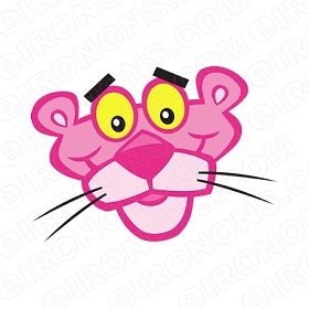 THE PINK PANTHER BIG HEAD CHARACTER T-SHIRT IRON-ON TRANSFER DECAL #CTPP2
