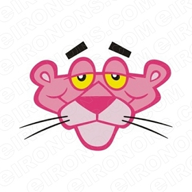 THE PINK PANTHER BIG HEAD FRONT VIEW CHARACTER T-SHIRT IRON-ON TRANSFER DECAL #CTPP3