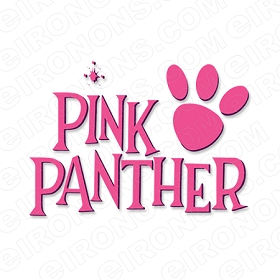 THE PINK PANTHER LOGO CHARACTER T-SHIRT IRON-ON TRANSFER DECAL #CTPP8
