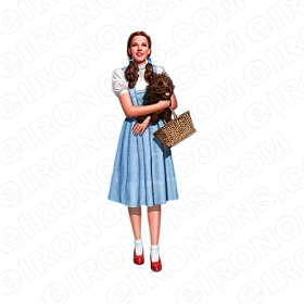 THE WIZARD OF OZ DOROTHY HOLDING TOTO MOVIE T-SHIRT IRON-ON TRANSFER DECAL #MWOO1