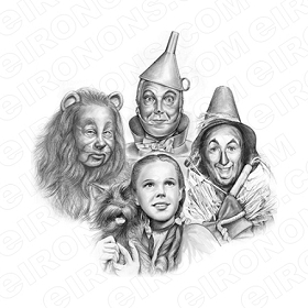 THE WIZARD OF OZ GROUP POSE 5 MOVIE T-SHIRT IRON-ON TRANSFER DECAL #MWOO6